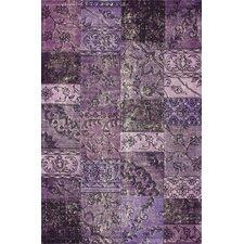Hides Purple Patchwork Area Rug