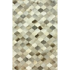 Hides Spotted Hide Black/Grey Geometric Area Rug