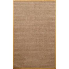 Natura Herringbone Brown/Yellow Area Rug