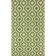Flatweave Green Espallier Rug