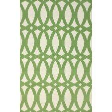 Flatweave Green Twizzle Area Rug