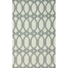Flatweave Light Grey Twizzle Area Rug
