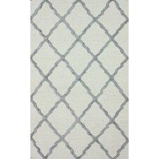 Flatweave Grey Drawn Trellis Area Rug