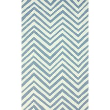 Veranda Light Blue Chevron Rug