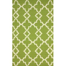 Flatweave Green Willow Rug