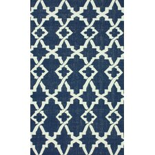 Flatweave Willow Navy Blue Area Rug