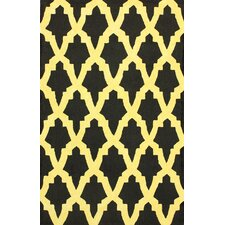 Brilliance Yellow/Black Damian Area Rug