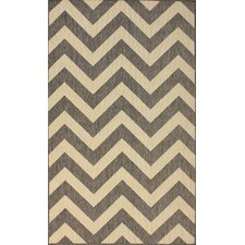Villa Outdoor Grey Chevron Rug