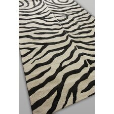Earth Black Radiant Zebra Rug