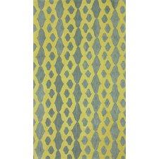 Brilliance Grey/Yellow Hannah Plush Area Rug