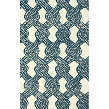 Tulon Blue Tied Down Rug
