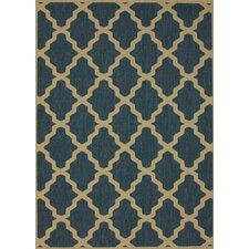 Villa Blue Trellis Indoor/Outdoor Area Rug