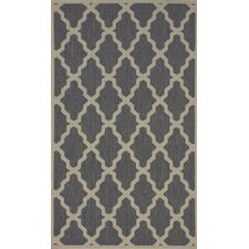 Villa Outdoor Grey Trellis Rug