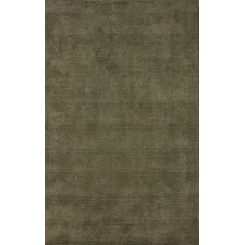 Goodwin Olive Solid Plush Area Rug