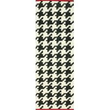 Moderna Black Border Houndstooth Rug