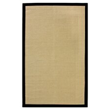 on Sisal Sand/Black Border Rug