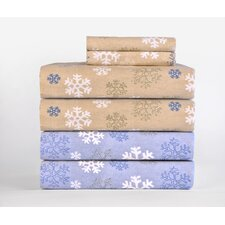 <strong>Pointehaven</strong> Heavy Weight Printed Flannel Sheet Set