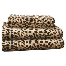 <strong>Pointehaven</strong> Heavy Weight Leopard Flannel Sheet Set