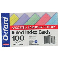 "100 Count 3"" x 5"" Ruled Index Card in White"