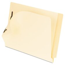 Folders, 2 Fasteners, Laminated Straight Cut End Tabs, Letter, 50/Box