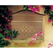 Hand Polished Peninsula Wall Mounted Mailbox
