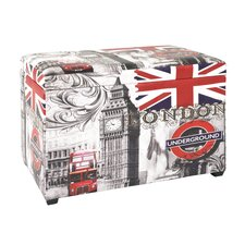 Sitztruhe mit London Motiv