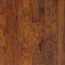 "Rio Handscraped 4-9/10"" Engineered American Hickory Flooring in Bourbon"