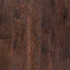 "Rio Handscraped 4-9/10"" Engineered American Hickory Flooring in Mocha"
