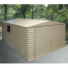10.5 Ft. W x 18 Ft. D Vinyl Garage Shed