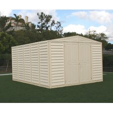 "WoodBridge 10'5"" W x 10'5"" D Vinyl Storage Shed"