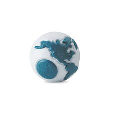 <strong>Planet Dog</strong> Old Soul Orbee-Tuff Orbee Dog Toy with Treat Spot in Silver / Teal