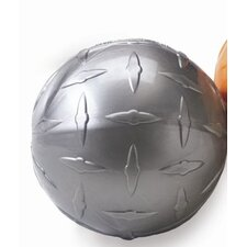 <strong>Planet Dog</strong> Orbee-Tuff Diamond Plate Orbee Ball Dog Toy in Silver