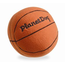 Squeaky Plush Basketball Dog Toy