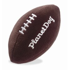 Squeaky Plush Football Dog Toy