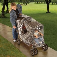 <strong>Jeep Baby Products</strong> Deluxe Tandem Stroller Weather Cover Shield