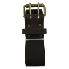 "<strong>Style N Craft</strong> Heavy Top Grain Oiled Leather 2"" Work Belt with Double Prong Roller Buckle"