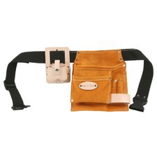 5 Pocket Carpenter's Tool Belt with Tape Holder