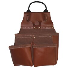 <strong>Style N Craft</strong> Heavy Duty Tan Top Grain Leather 9 Pocket Nail and Tool Pouch