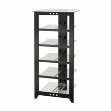 Natural Black 6-Shelf Audio Rack