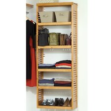 "Standard 12"" Deep Stand Alone Shelf Tower Set in Honey Maple"