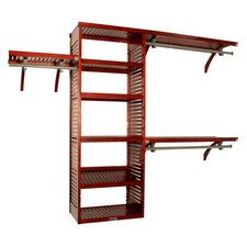 "<strong>John Louis Inc.</strong> Deluxe 16"" Deep Closet Organizer Set in Red Mahogany"