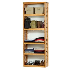 "Standard 12"" Deep Stand Alone Shelf Tower Frame in Honey Maple"