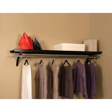 Woodcrest Shelf with Optional Wardrobe Bar