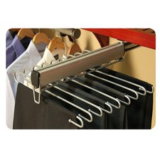 "16"" Side Load Pant Rack in Satin Nickel"
