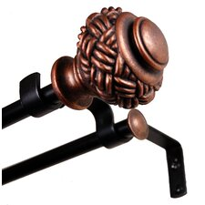 <strong>BCL Drapery Hardware</strong> Hannah Steel Double Curtain Rod and Hardware Set