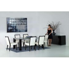 <strong>Star International</strong> Veronica Dining Table with Crackle Glass