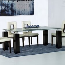 "42"" Tiffany Crackle Glass Dining Table"