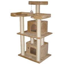"51"" Cat Tree Condo in Beige"
