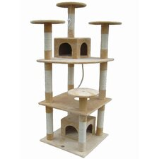 "<strong>Go Pet Club</strong> 70"" Cat Tree Condo House in Beige"