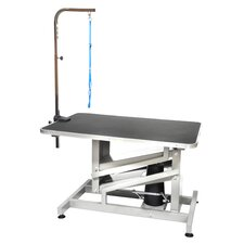 <strong>Go Pet Club</strong> Z-Lift Hydraulic Professional Dog Grooming Table with Arm